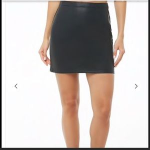 Forever 21 Faux Leather mini skirt NWT